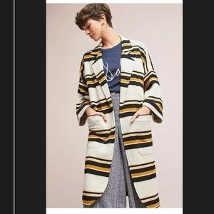 Anthropologie The Odell's Striped Cocoon Coat XS